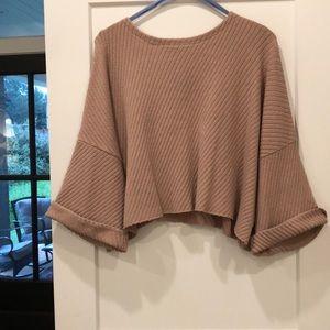 Free people bell sleeve sweater